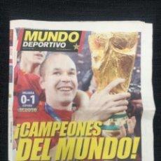 Coleccionismo deportivo: SPORT DIARIO DEPORTIVO ESPAÑA CAMPEONA DEL MUNDO 2010. Lote 225647353