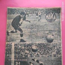 Collezionismo sportivo: PERIODICO MARCA 1943 LIGA 43/44 RCD ESPANYOL 4-0 ATHLETIC - REAL OVIEDO - DEPORTIVO TOLEDO. Lote 226251200