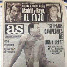 Coleccionismo deportivo: AS (26-7-1979) BOSKOV HECTOR NUÑEZ PEREIRA ATLETICO MADRID JORGE GUILLEN CHINA. Lote 226359745