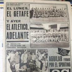 Coleccionismo deportivo: AS (25-7-1979) GETAFE ATLETICO MADRID AGUILAR FICHAJE SPORTING GIJON FRAGUAS QUIQUE JAVI GETAFE. Lote 226359980