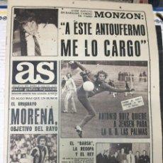 Coleccionismo deportivo: AS (20-7-1979) MONZON BOXEO MORENA BOGOTA BILL WURM HINAULT. Lote 226360335