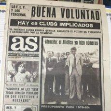 Coleccionismo deportivo: AS (19-7-1979) SIMONSEN MEXICO BOGOTA LASTRA PICHI ALONSO SEBASTIAN ATLETISMO BONHOF VALENCIA. Lote 226360635