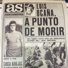 Coleccionismo deportivo: AS (15-7-1979) LUIS OCAÑA ACCIDENTE CICLISMO MACHIN MUHAMMAD ALI LOS ANGELES GUADALAJARA. Lote 226361090