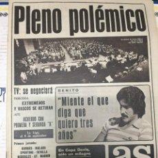 Coleccionismo deportivo: AS (14-7-1979) BENITO COPA DAVIS GRAN BRETAÑA ESPAÑA AMERICA MUHAMMAD ALI REMO. Lote 226361430