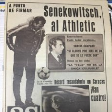 Coleccionismo deportivo: AS (8-7-1979) SENEKOWITSCH ATHLETIC BILBAO BORG TENIS HERENCIA ATLETICO MADRID MUHAMMAD ALI. Lote 226365950