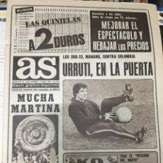 Coleccionismo deportivo: AS (7-7-1979)WIMBLEDON MARTINA TENIS MALAGA EN PRIMERA MUHAMMAD ALI REUS DEPORTIVO BARCELONA HOCKEY. Lote 226366275