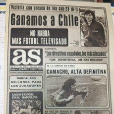 Coleccionismo deportivo: AS (6-7-1979) SUB23 WIMBLEDON TENIS JIMENEZ PIÑERO MUHAMMAD ALI. Lote 226366440