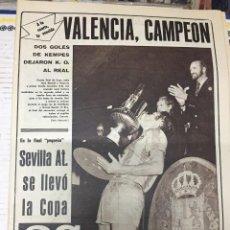 Coleccionismo deportivo: AS (1-7-1979) CAMPEON FINAL COPA VALENCIA 2-0 REAL MADRID SEVILLA ATLETICO CAMPEON JUVENIL BAYERN. Lote 226367387