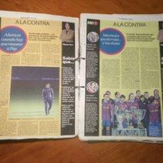 Coleccionismo deportivo: BARÇA MUNDO DEPORTIVO ESPECIAL A LA CONTRA DESDE 7 ENERO 2010 HASTA 27 NOVIEMBRE 2010. Lote 226367623