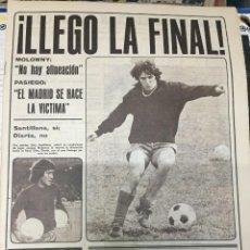 Coleccionismo deportivo: AS (30-6-1979) HOY FINAL COPA DEL REY VALENCIA 2-0 REAL MADRID CAMACHO ESCRIBANO. Lote 226367720