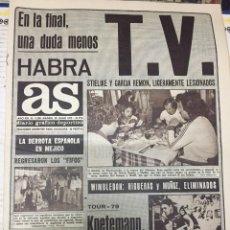 Coleccionismo deportivo: AS (28-6-1979) CONCENTRACION REAL MADRID KNETEMANN RUBIO. Lote 226370856