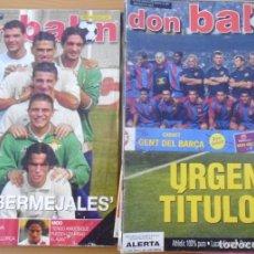 Coleccionismo deportivo: 26 REVISTAS DEPORTIVAS DON BALON DEL AÑO 2002. Lote 226489050