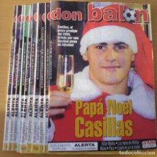 Coleccionismo deportivo: 10 REVISTAS DEPORTIVAS DON BALON DEL AÑO 2000. Lote 226490466