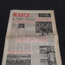 Coleccionismo deportivo: 27/05/1960. VILLAMARIN: R.MADRID - BURUSSIA AT FERROVIARIA / MALLORCA REUTLINGER /AT MADRID DESPORTO. Lote 226595810