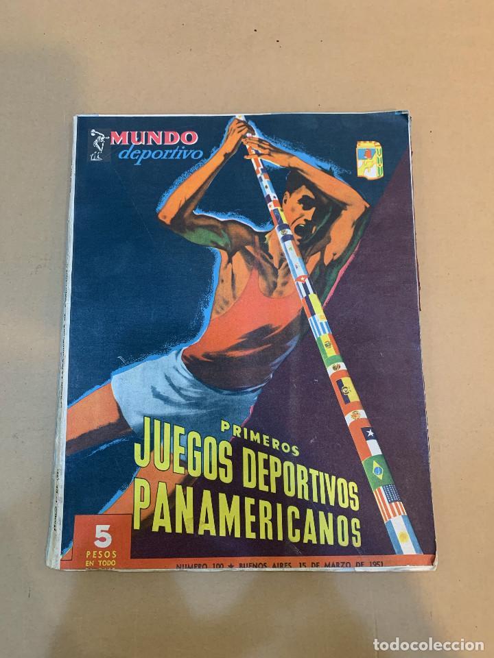 MUNDO DEPORTIVO N.º 100 / PRIMEROS JUEGOS DEPORTIVOS PANAMERICANO (Coleccionismo Deportivo - Revistas y Periódicos - Mundo Deportivo)