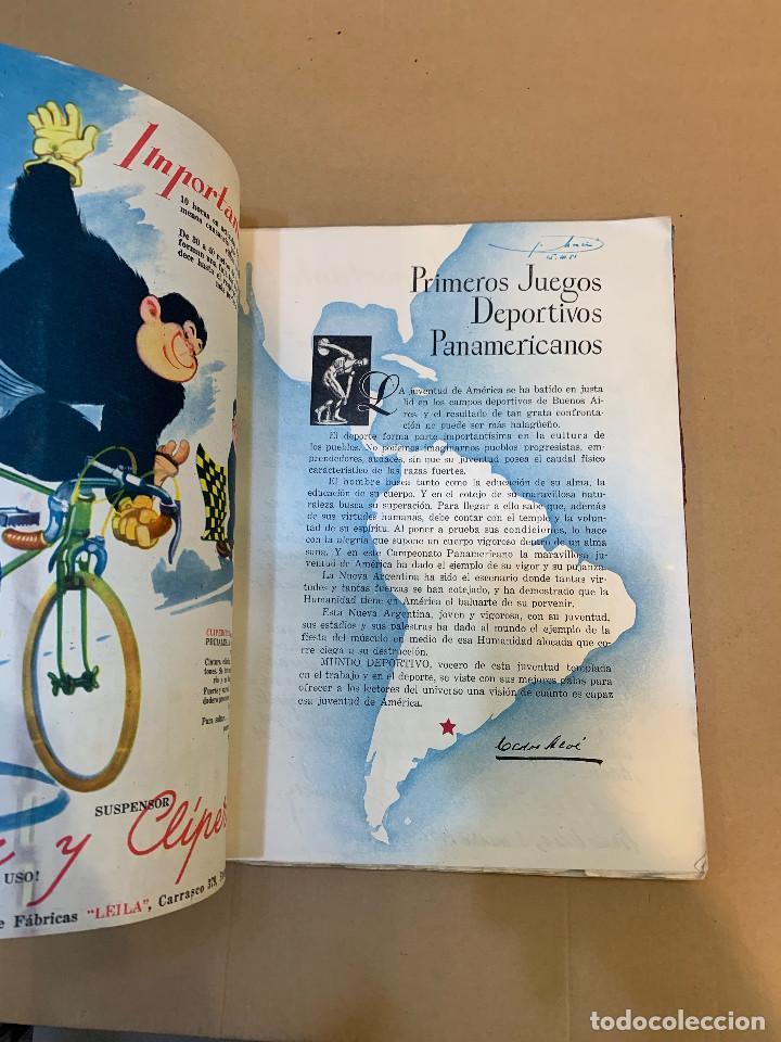 Coleccionismo deportivo: MUNDO DEPORTIVO N.º 100 / PRIMEROS JUEGOS DEPORTIVOS PANAMERICANO - Foto 4 - 226953550