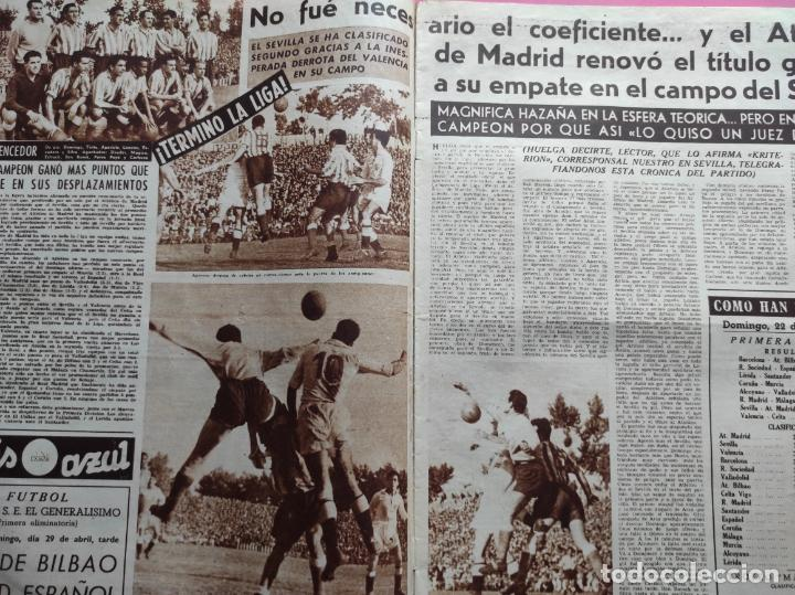 Coleccionismo deportivo: VIDA DEPORTIVA Nº 293 ATLETICO DE MADRID CAMPEON LIGA FUTBOL 1950/1951 - ATLETI 50/51 - Foto 2 - 226957536