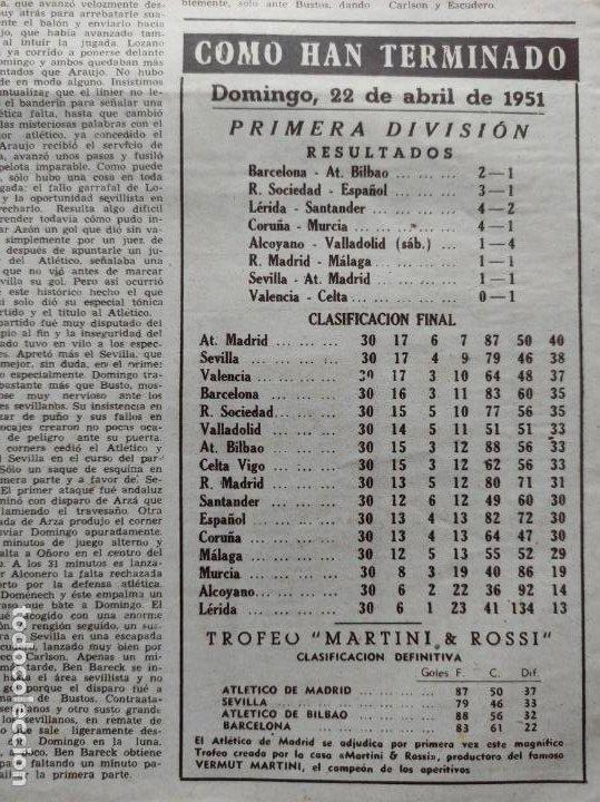 Coleccionismo deportivo: VIDA DEPORTIVA Nº 293 ATLETICO DE MADRID CAMPEON LIGA FUTBOL 1950/1951 - ATLETI 50/51 - Foto 3 - 226957536