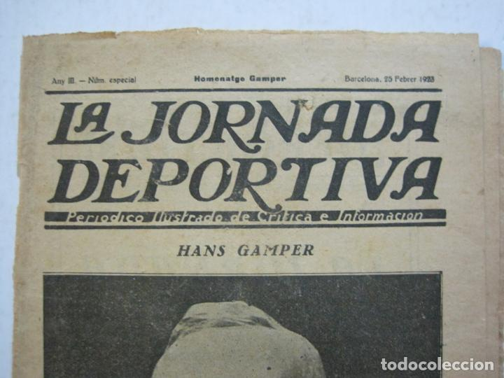 Coleccionismo deportivo: LA JORNADA DEPORTIVA-HOMENATGE A HANS GAMPER-FC BARCELONA-FEBRER 1923-FUTBOL-VER FOTOS-(K-1160) - Foto 3 - 227086360