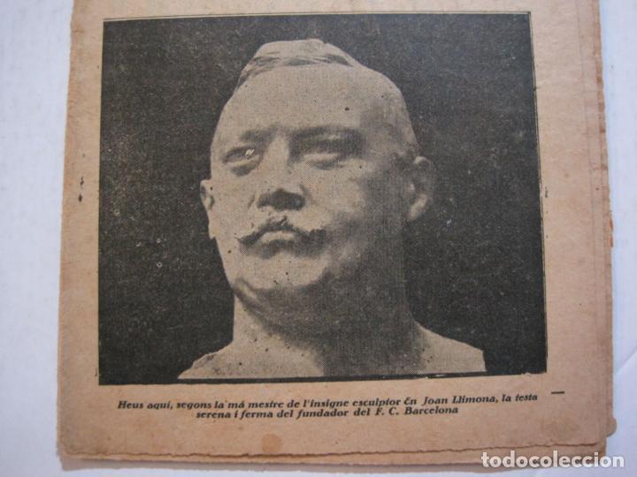 Coleccionismo deportivo: LA JORNADA DEPORTIVA-HOMENATGE A HANS GAMPER-FC BARCELONA-FEBRER 1923-FUTBOL-VER FOTOS-(K-1160) - Foto 4 - 227086360