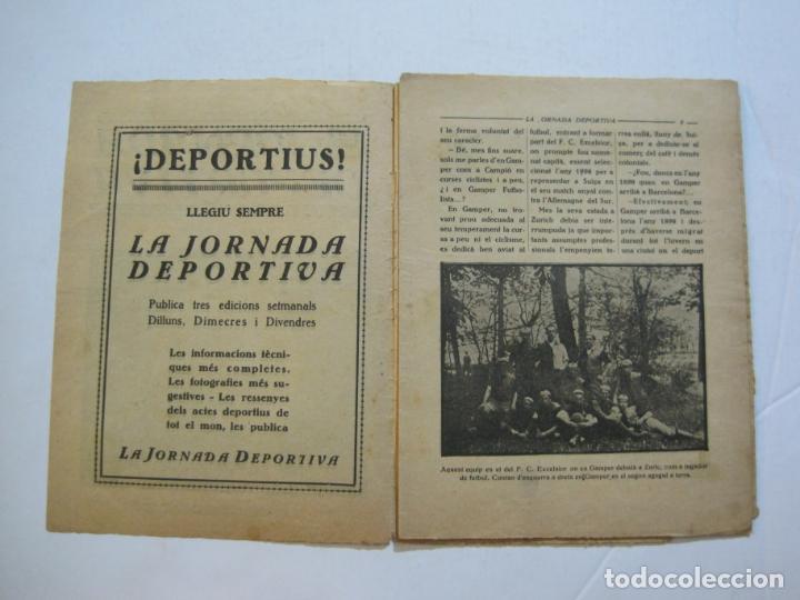 Coleccionismo deportivo: LA JORNADA DEPORTIVA-HOMENATGE A HANS GAMPER-FC BARCELONA-FEBRER 1923-FUTBOL-VER FOTOS-(K-1160) - Foto 6 - 227086360
