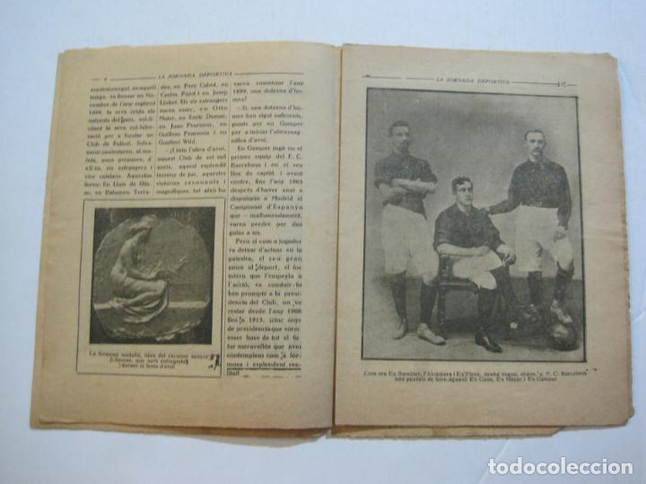 Coleccionismo deportivo: LA JORNADA DEPORTIVA-HOMENATGE A HANS GAMPER-FC BARCELONA-FEBRER 1923-FUTBOL-VER FOTOS-(K-1160) - Foto 7 - 227086360