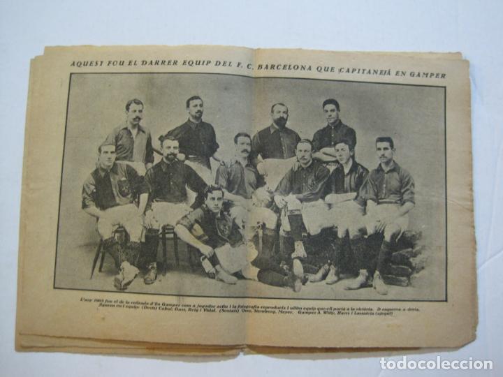 Coleccionismo deportivo: LA JORNADA DEPORTIVA-HOMENATGE A HANS GAMPER-FC BARCELONA-FEBRER 1923-FUTBOL-VER FOTOS-(K-1160) - Foto 8 - 227086360