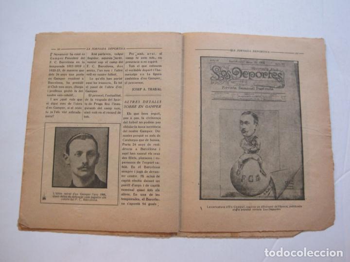 Coleccionismo deportivo: LA JORNADA DEPORTIVA-HOMENATGE A HANS GAMPER-FC BARCELONA-FEBRER 1923-FUTBOL-VER FOTOS-(K-1160) - Foto 9 - 227086360