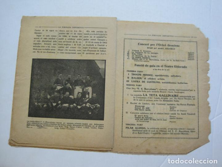 Coleccionismo deportivo: LA JORNADA DEPORTIVA-HOMENATGE A HANS GAMPER-FC BARCELONA-FEBRER 1923-FUTBOL-VER FOTOS-(K-1160) - Foto 10 - 227086360