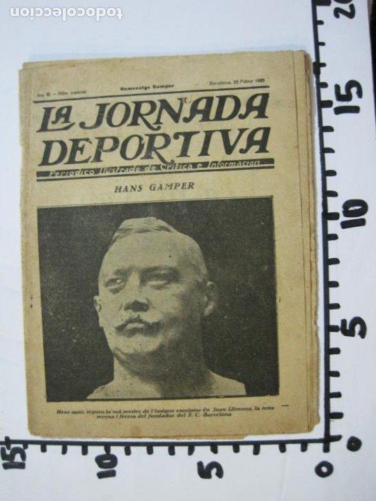 Coleccionismo deportivo: LA JORNADA DEPORTIVA-HOMENATGE A HANS GAMPER-FC BARCELONA-FEBRER 1923-FUTBOL-VER FOTOS-(K-1160) - Foto 12 - 227086360
