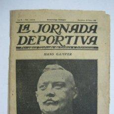 Coleccionismo deportivo: LA JORNADA DEPORTIVA-HOMENATGE A HANS GAMPER-FC BARCELONA-FEBRER 1923-FUTBOL-VER FOTOS-(K-1160). Lote 227086360