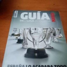 Collezionismo sportivo: REVISTA MARCA. GUÍA DE LA LIGA 2015 2016. ESPAÑA LO ACAPARA TODO. B4R. Lote 227252675