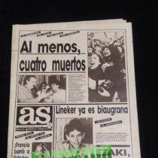 Coleccionismo deportivo: DIARIO AS,2 DE JULIO 1986. LA CELEBRACION DEL TITULO MUNDIAL. FICHAJE LINEKER POR EL BARCELONA.. Lote 227232320