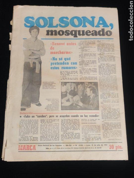 Coleccionismo deportivo: Di stefano,siempre Di stefano. Marca,lunes 19 de julio de 1982. - Foto 6 - 227578105