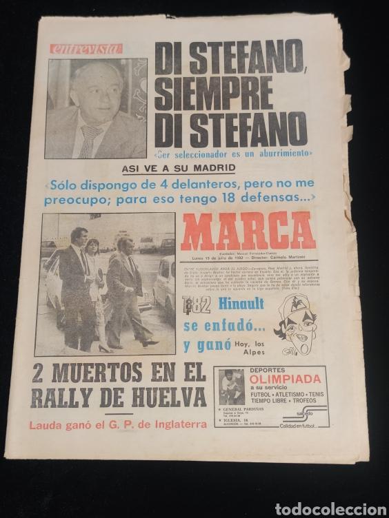 DI STEFANO,SIEMPRE DI STEFANO. MARCA,LUNES 19 DE JULIO DE 1982. (Coleccionismo Deportivo - Revistas y Periódicos - Marca)