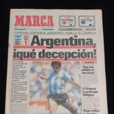 Coleccionismo deportivo: DIARIO MARCA,MUNDIAL DE FUTBOL FIFA ITALIA AÑO 1990. EDICION ANDALUCIA. 9 DE JUNIO.. Lote 227917095
