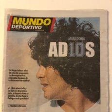 Coleccionismo deportivo: MUNDO DEPORTIVO 32209 ADIOS MARADONA FALLECIMIENTO MUERTE 27/11/2020. Lote 228018595