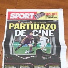 Colecionismo desportivo: PORTADA SPORT 29 - 11 - 2009 PREVIA FC BARCELONA - REAL MADRID. Lote 228042262