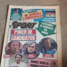 Coleccionismo deportivo: DIARIO SPORT N° 1609 . RAFAEL GORDILLO. SUEÑO GALOPAR DE AZULGRANA EN EL CAMP NOU . MARADONA. Lote 228107950