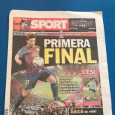 Collectionnisme sportif: PORTADA SPORT 17 Y 18-08-2011 SUPERCOPA PARTIDO VUELTA FC BARCELONA- REAL MADRID. Lote 228306125
