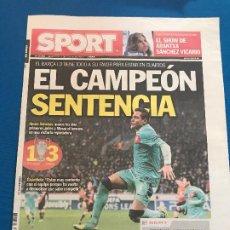Collectionnisme sportif: PORTADA SPORT 15-02-2012 VICTORIA CHAMPIONS BAYER L. - FC BARCELONA. Lote 228338860