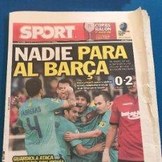 Collectionnisme sportif: PORTADA SPORT 25-03-2012 VICTORIA LIGA MALLORCA - FC BARCELONA. Lote 228340295