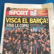 Collectionnisme sportif: PORTADA SPORT 27-05-2012 VICTORIA FINAL COPA DEL REY FC BARCELONA - ATH BILBAO. Lote 228345300