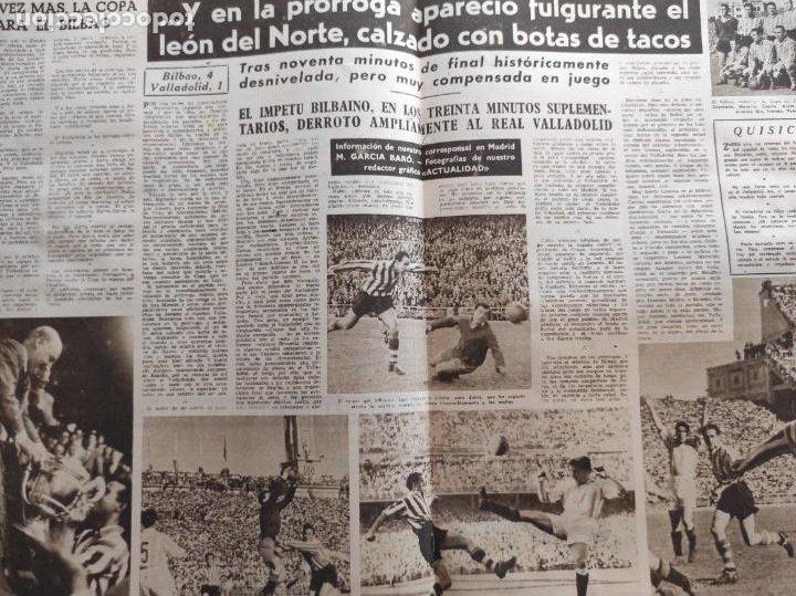 Coleccionismo deportivo: VIDA DEPORTIVA Nº 247 1950 ATHLETIC CLUB BILBAO CAMPEON COPA DEL GENERALISIMO 50 REAL VALLADOLID - Foto 3 - 228363650