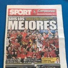 Coleccionismo deportivo: PORTADAS SPORT ESPAÑA CAMPEONA DE EUROCOPA 2008. Lote 228483290