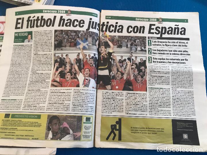 Coleccionismo deportivo: portadas sport España Campeona de Eurocopa 2008 - Foto 2 - 228483290