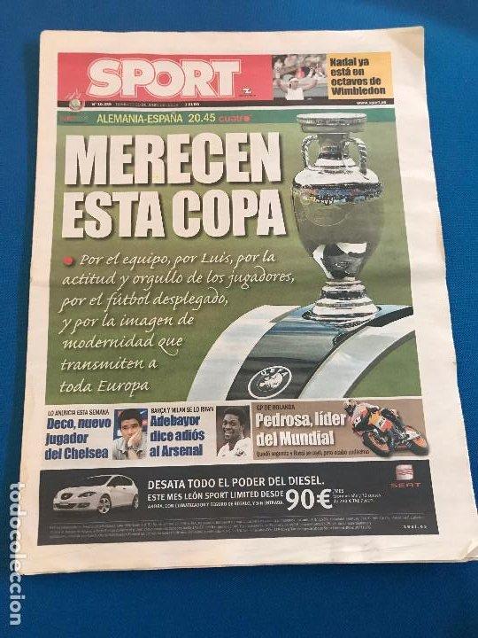 Coleccionismo deportivo: portadas sport España Campeona de Eurocopa 2008 - Foto 3 - 228483290