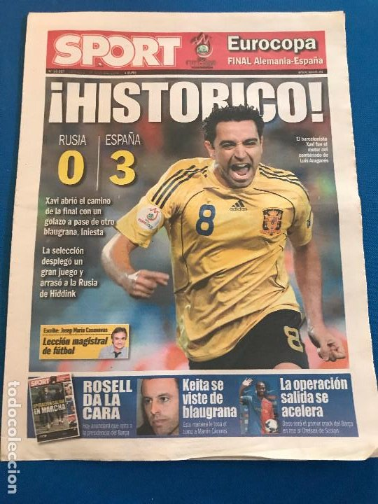 Coleccionismo deportivo: portadas sport España Campeona de Eurocopa 2008 - Foto 4 - 228483290