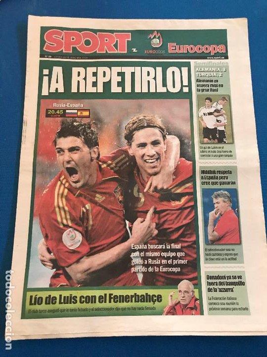 Coleccionismo deportivo: portadas sport España Campeona de Eurocopa 2008 - Foto 5 - 228483290