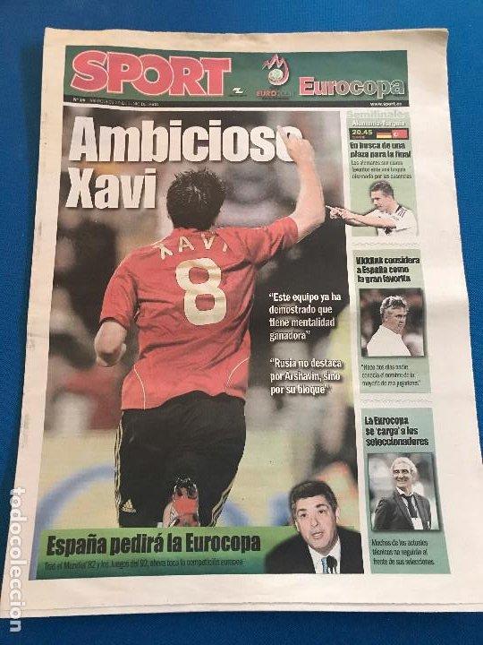 Coleccionismo deportivo: portadas sport España Campeona de Eurocopa 2008 - Foto 6 - 228483290